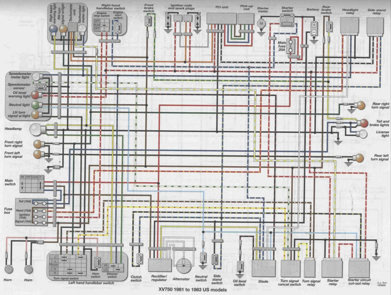 viragotechforum.com • view topic - 83 xv750 electrical ... marine wiring diagram yamaha f90 wiring diagram yamaha virago