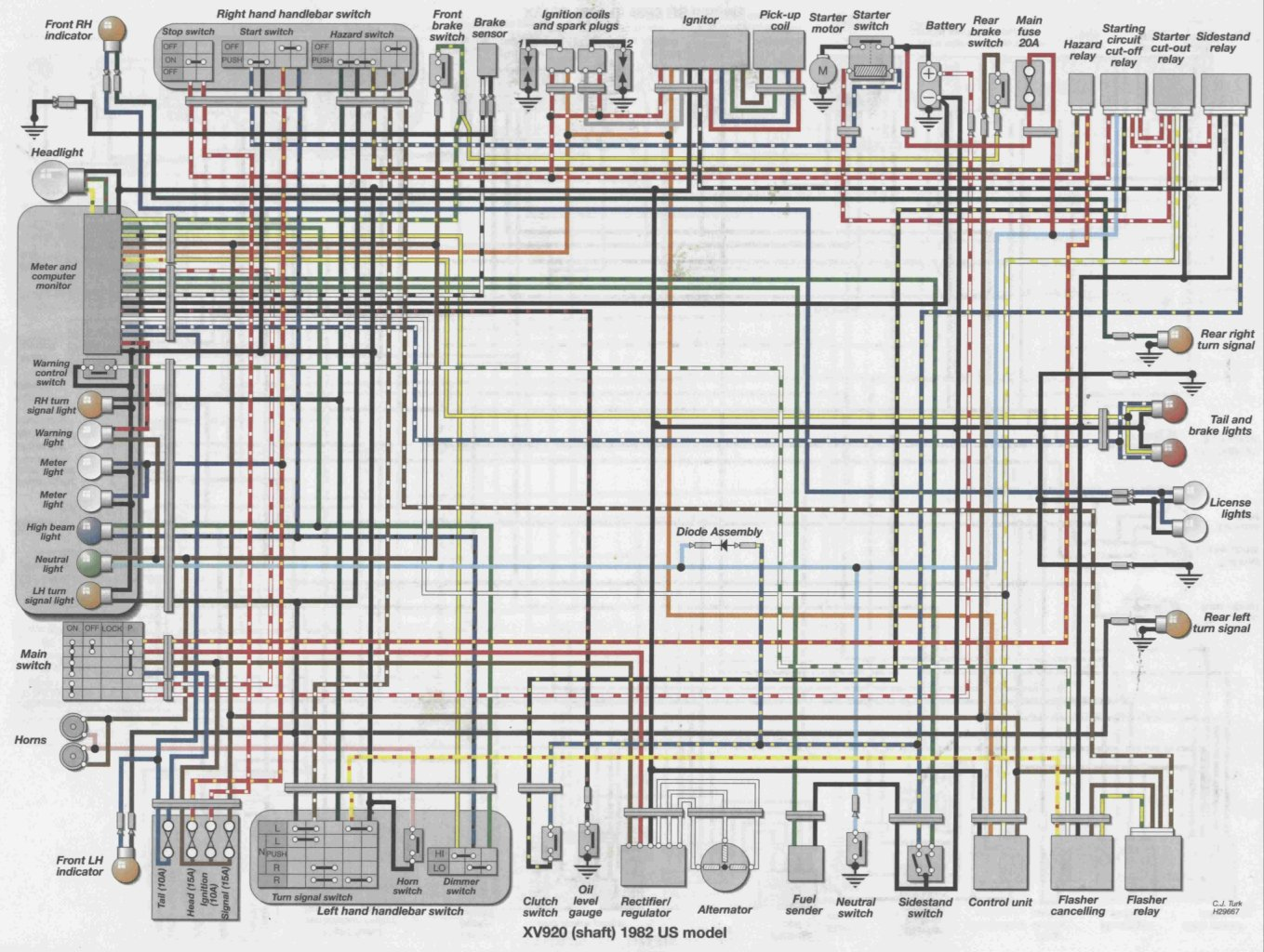 Yamaha 750 Wiring Diagram | Wiring Diagram on