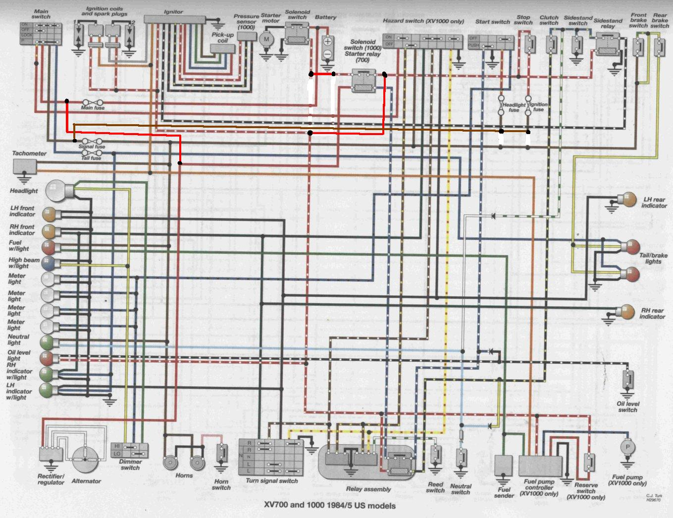 Virago Xv700 Wiring Diagram Flasher Relay Another Diagrams For Turn Signal Switch Need Help 1985 Rh Dotheton Com 12 Volt