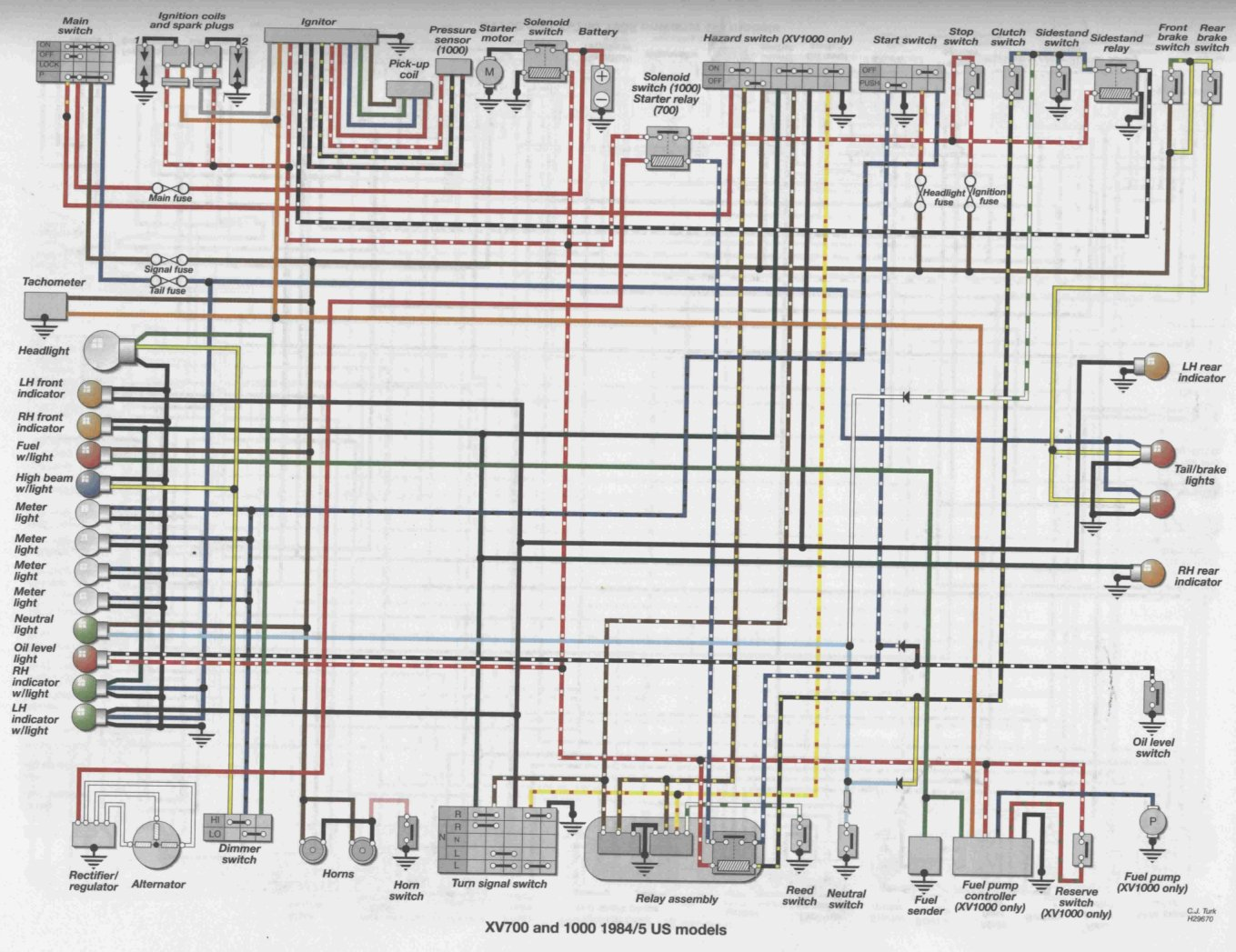 Virago Xv1100 Wiring Diagram Great Installation Of Yamaha On 89 Moto 4 250 1100 Todays Rh 3 10 1813weddingbarn Com 1981 750