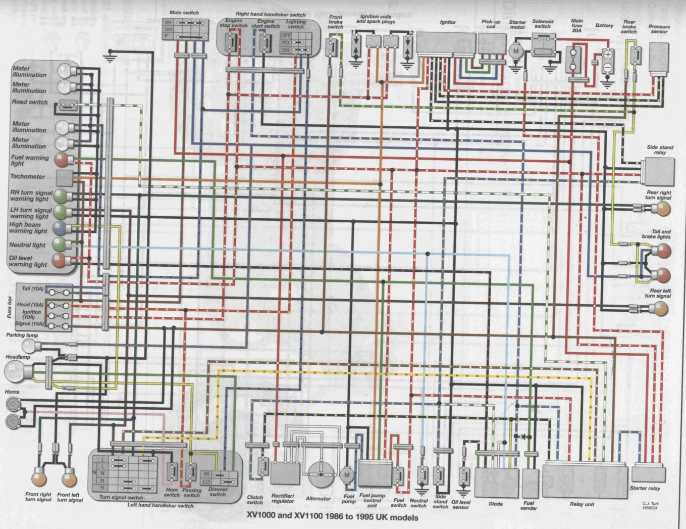 86_95_uk_XV1000_XV1100 index of wiring 2006 yamaha fz6 wiring diagram at eliteediting.co