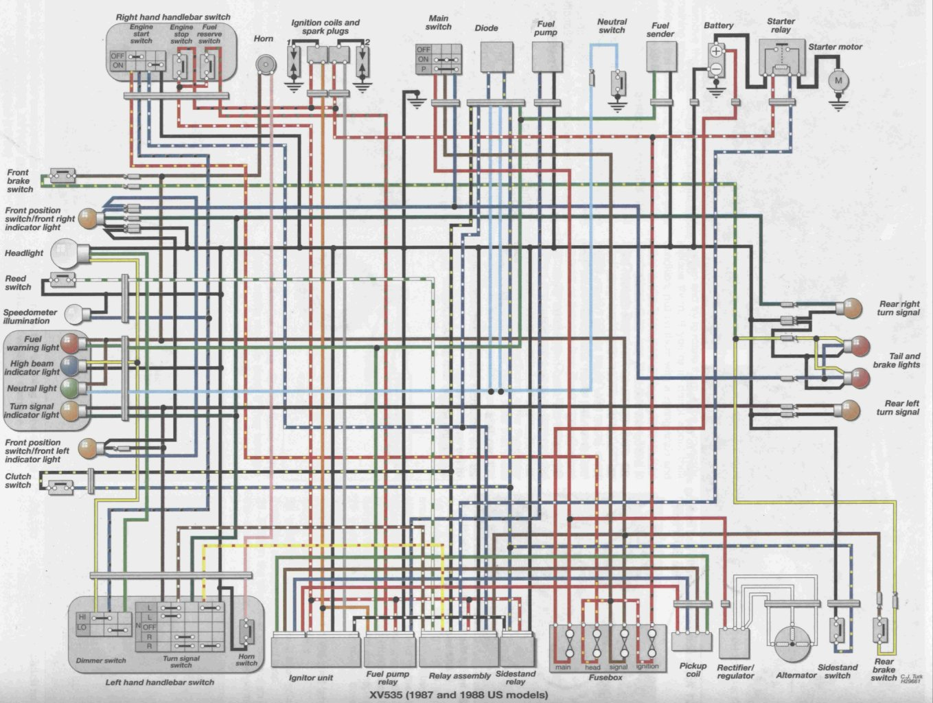 87_88_us_XV535 viragotechforum com \u2022 view topic wiring ending a line 1987 535 Wiring Harness Diagram at gsmportal.co