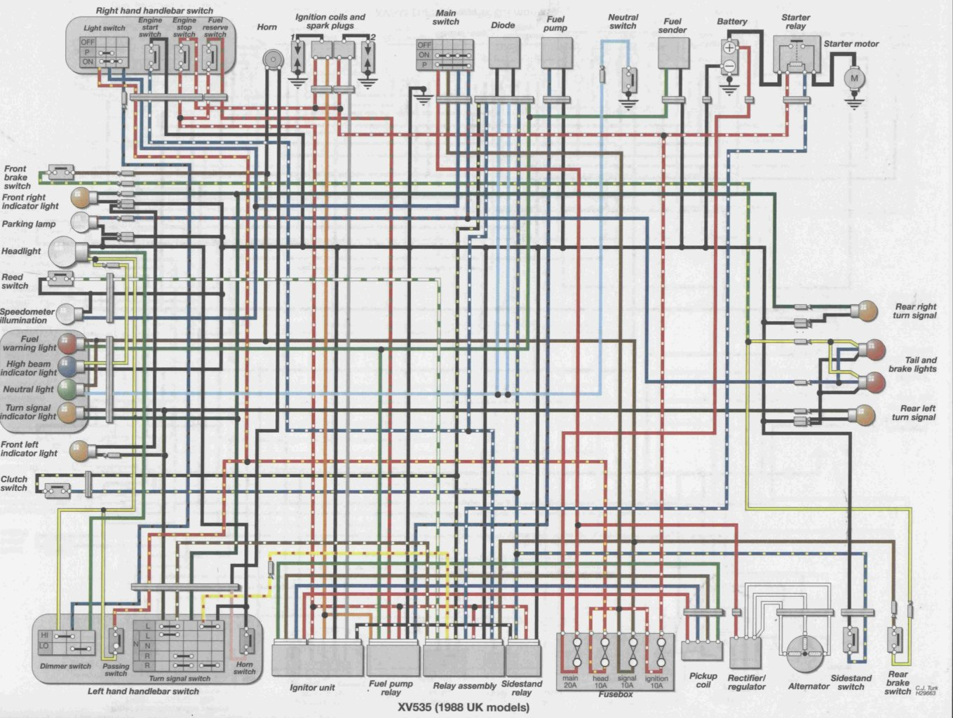 on yamaha virago 250 wiring diagram