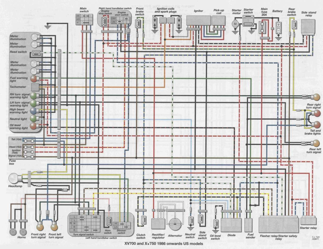 86 Vt 1100 Wiring Diagram Explore On The Net Honda I Have An 750 Virago When You First Start It Up Vt1100 Review